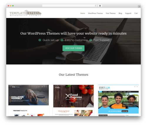 Reznor theme WordPress - templateexpress.com