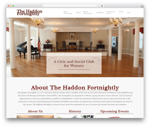 Salient theme WordPress - thehaddonfortnightly.org