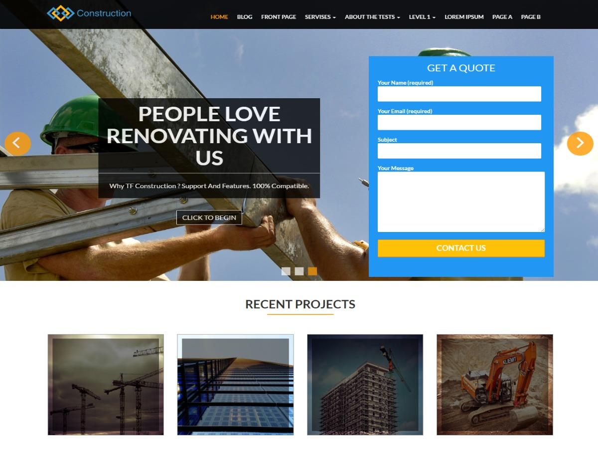 TF Construction free WP theme