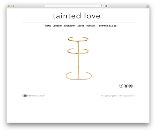 The Retailer theme WordPress - taintedlovejewelry.com