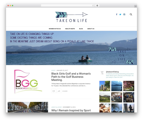 The Voux theme WordPress - takeonlife.co.uk