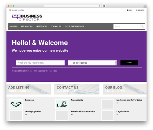 Theme WordPress Responsive Business Theme - talkbusinessdirectory.com