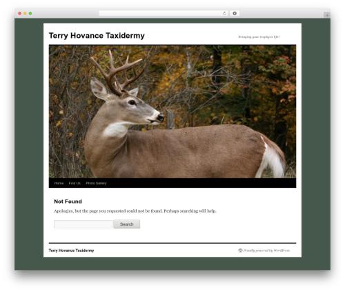Twenty Ten template WordPress free - terryhovancetaxidermy.com