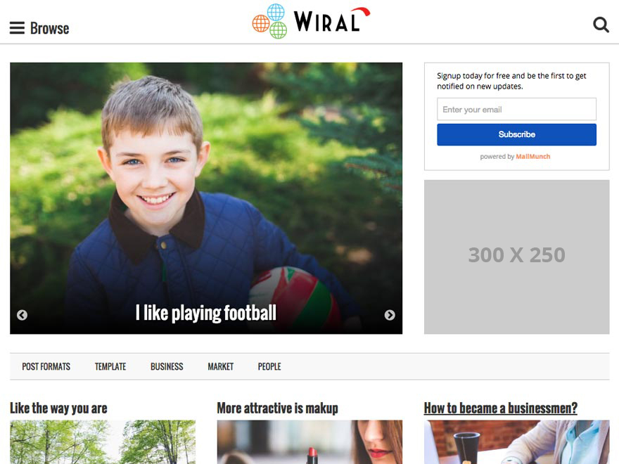 Wiral Lite WordPress theme download