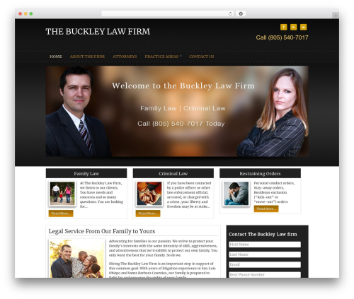 WordPress theme Buckley Law Theme - thebuckleylawfirm.com