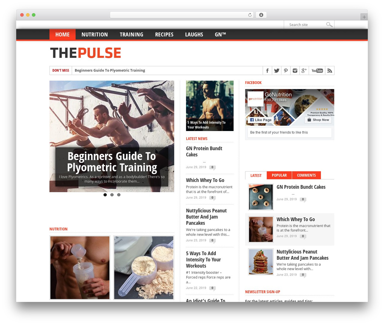 WP template Max Mag Theme - thepulse.gonutrition.com