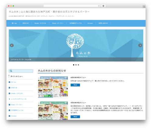 FSV002WP BASIC CORPORATE 01 (BLUE) WordPress theme - nemu-no-ki.com