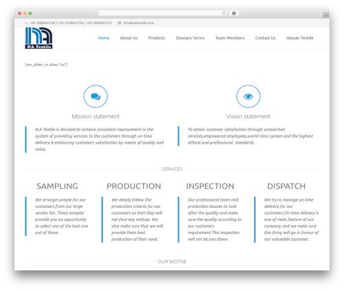 Impreza (Share On Themestotal.Com) best WordPress theme - natextile.com