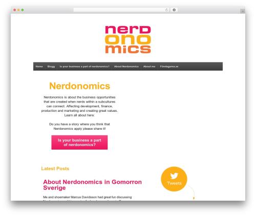 Responsive free WP theme - nerdonomics.se