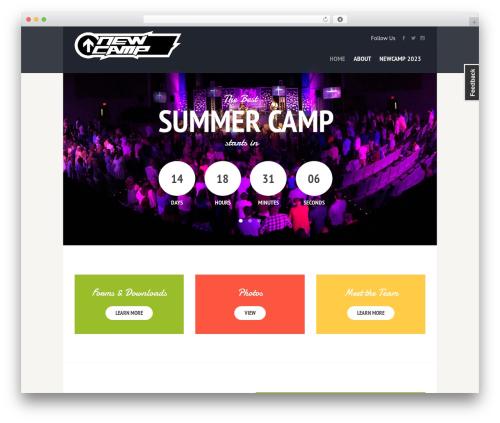 SevenHills WordPress theme - newcampministries.com