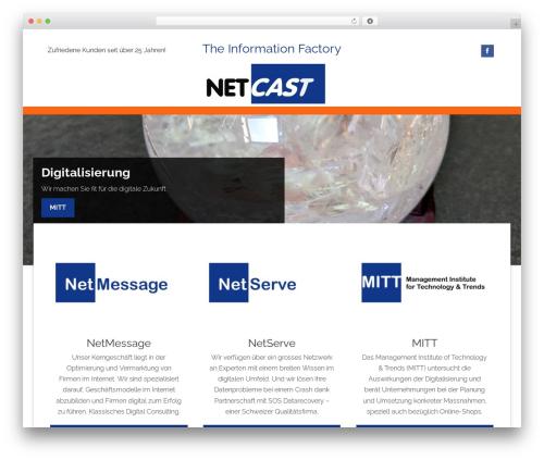 Superb WordPress website template - netcast.ch