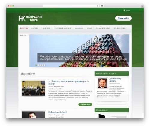 Best WordPress template Candidate - napredniklub.org
