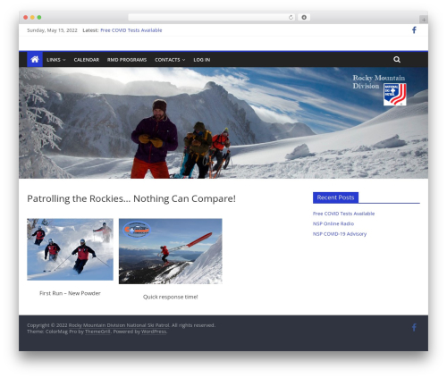 ColorMag Pro WordPress template - nsprmd.org