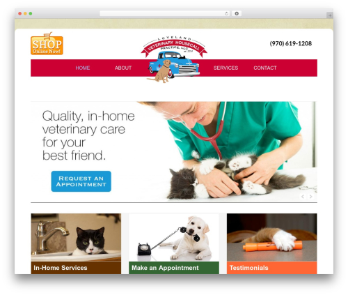 Enterprise Pro Theme WordPress website template - nocoinhomevet.com