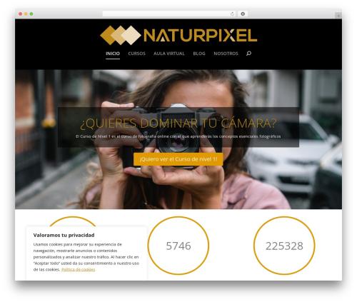 Extra WordPress blog theme - naturpixel.com