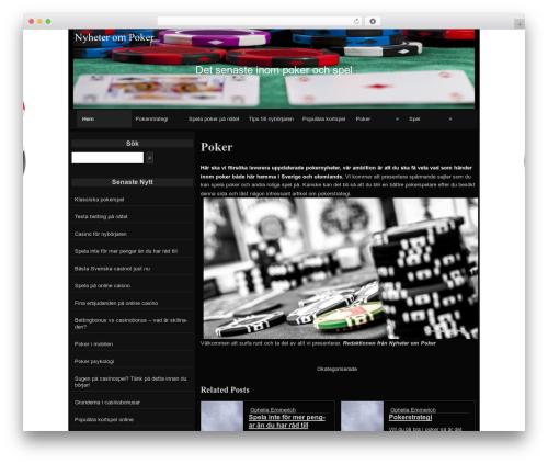 raindrops WordPress theme - nyheterompoker.se