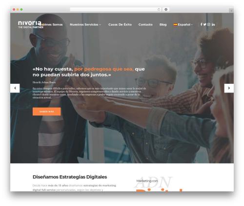 Theme WordPress Pitch - nivoria.com