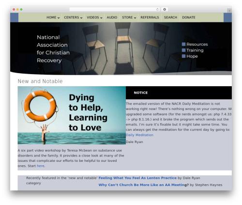 Dynamik-Gen WordPress theme - nacr.org