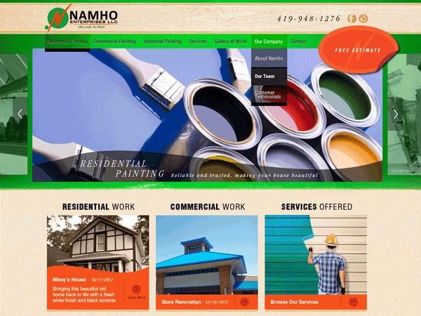 Namho Enterprises WordPress theme