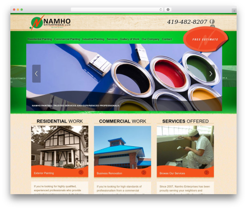 Namho Enterprises WordPress theme - namhoenterprises.com