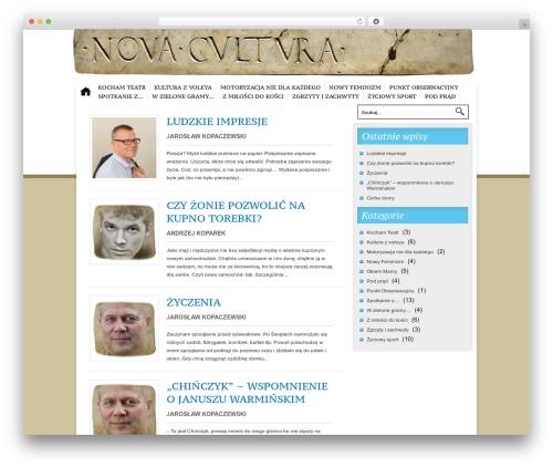 Nublu WP theme - novacultura.eu