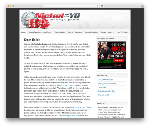 Sample Child Theme WordPress theme - nickelontheyo.com