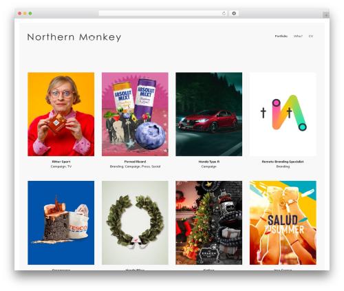 WordPress template Reframe Plus - northernmonkey.gallery