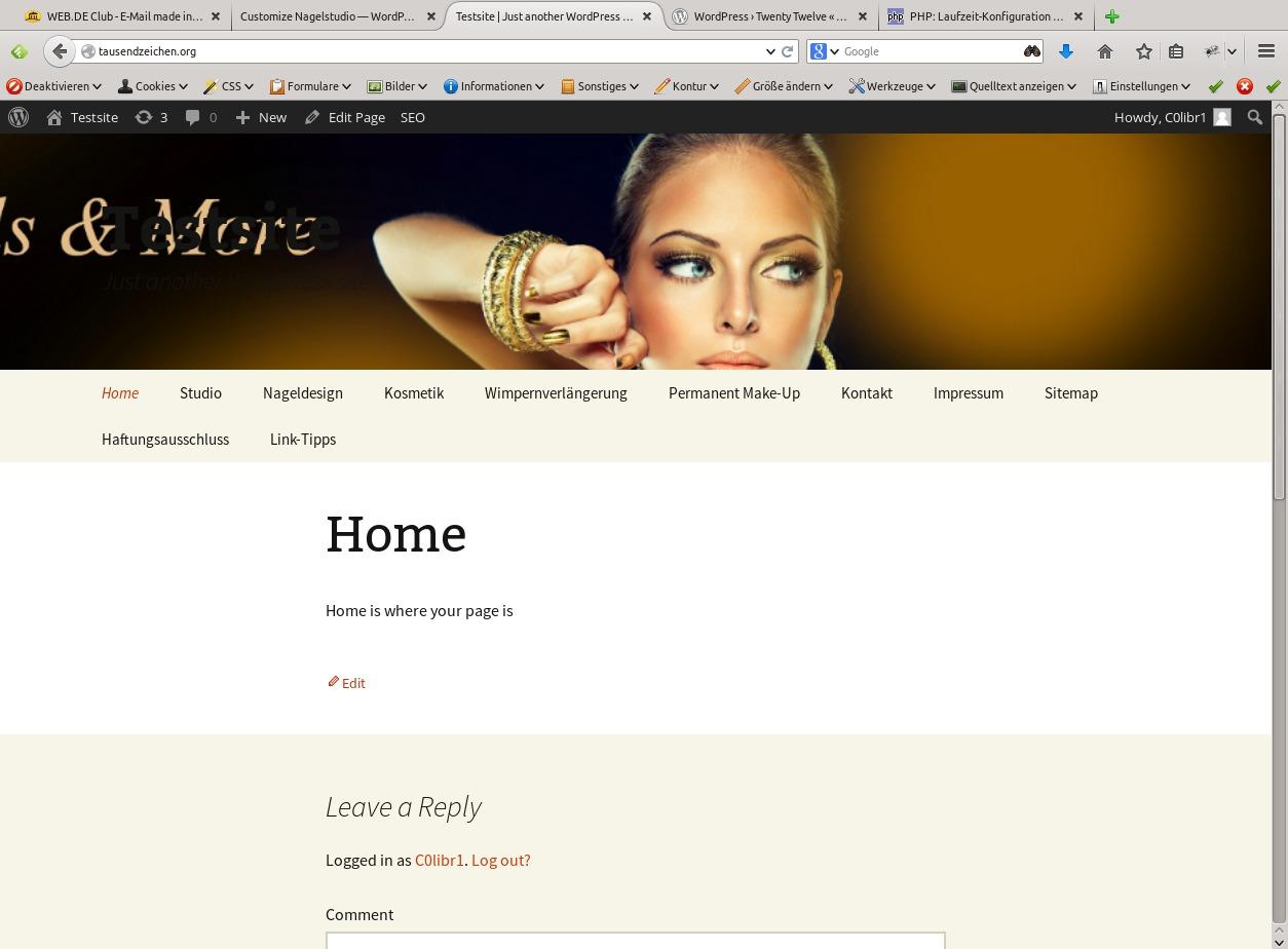 WordPress website template Nagelstudio
