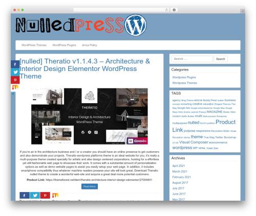 Best WordPress template LineDay - nulledpress.org
