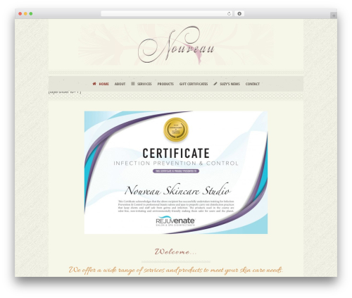 Dream Spa theme WordPress - nouveauskincarestudio.com