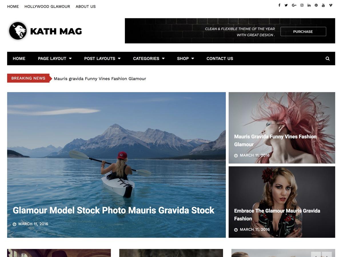 Kathmag WordPress store theme