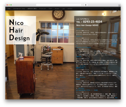 Nico top WordPress theme - nicohairdesign.com