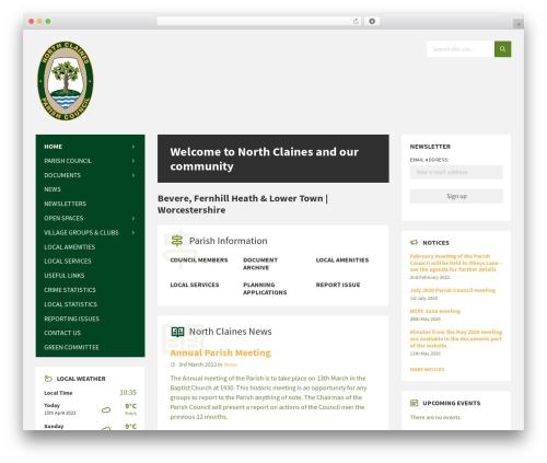 Theme WordPress TownPress - northclainesparishcouncil.gov.uk