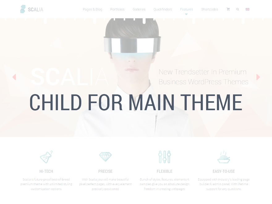WordPress theme Scalia Child