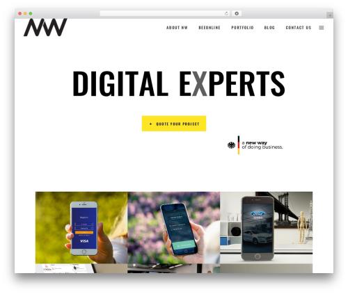 WordPress website template Pxlz - nw-ideas.com