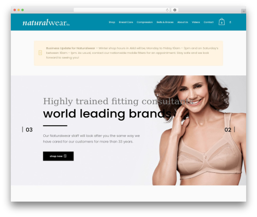 Bazaar WP theme - naturalwear.co.nz