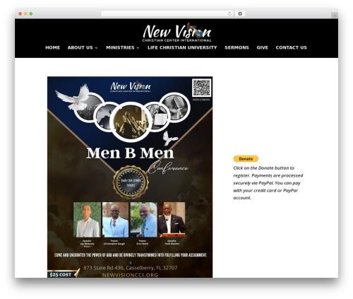 Divi WordPress theme - newvisioncci.org