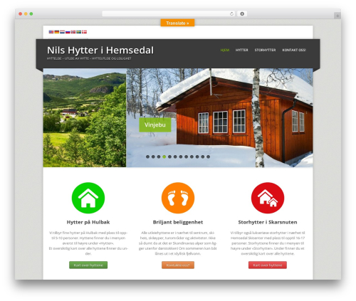 WordPress theme Corpo - nils-hytter.no
