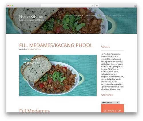 Food Express best WordPress template - norazmiskitchen.com