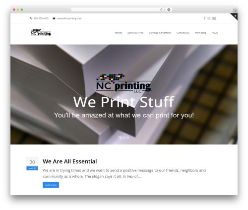 Total template WordPress free - ncprinting.com