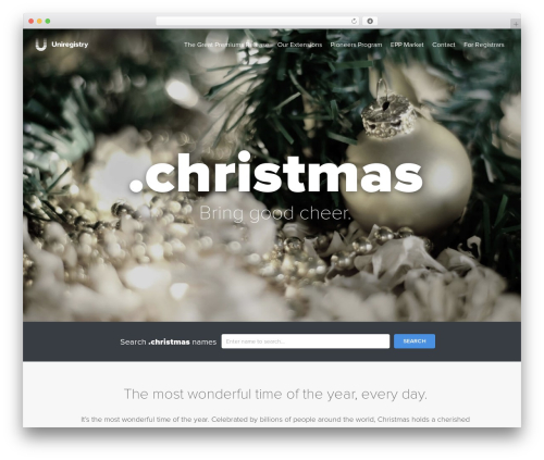 Uniregistry WP theme - nic.christmas