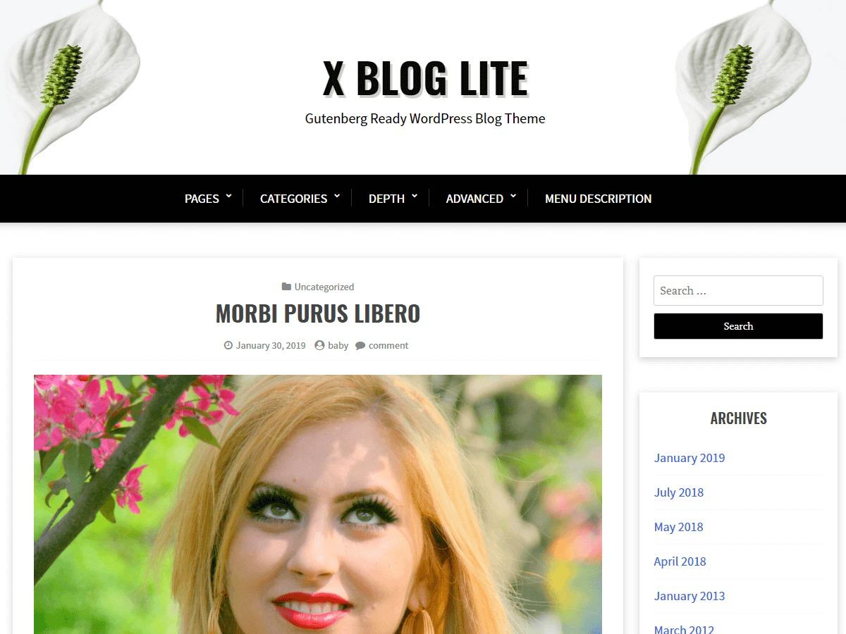 X Blog Lite business WordPress theme