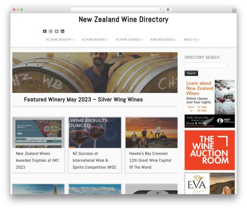 Customizr Pro theme WordPress - nzwinedirectory.co.nz
