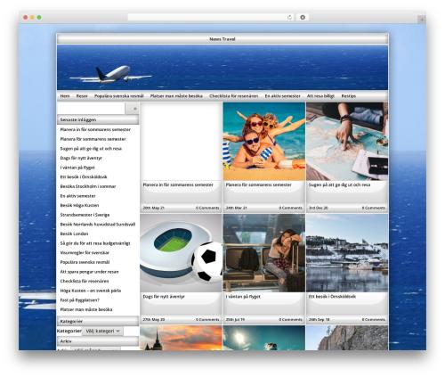 Exact WordPress travel theme - newstravel.se