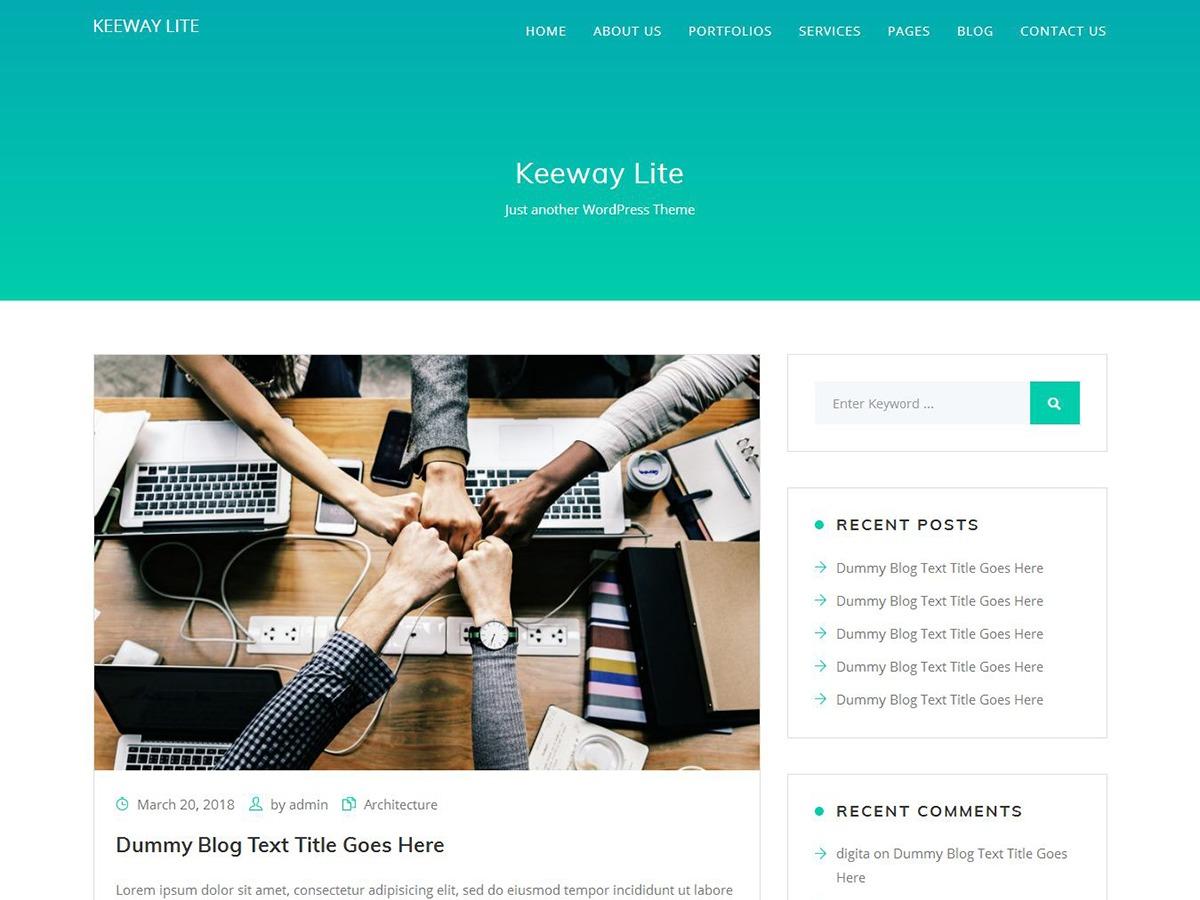 Keeway Lite WordPress blog theme