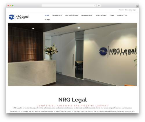 MONTANA WordPress template for business - nrglegal.com.au