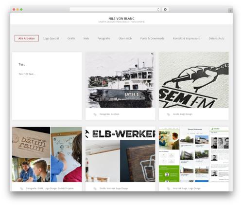 Portfolio personal blog example - nils-von-blanc.de