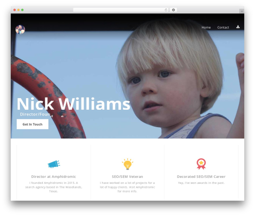 Selfie free WordPress theme - nickthomaswilliams.com