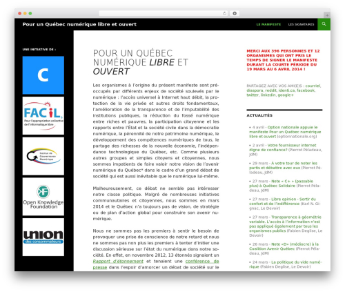 Twenty Fourteen free WordPress theme - notreavenirnumerique.net