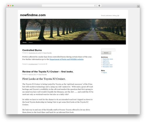 Twenty Ten theme WordPress free - nowfindme.com